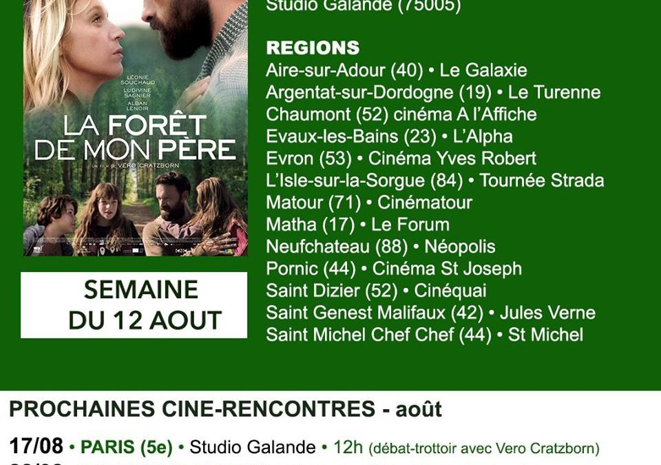 Into Dad's Woods is still in theaters in France!